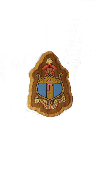Delta Gamma Raised Wood Crest