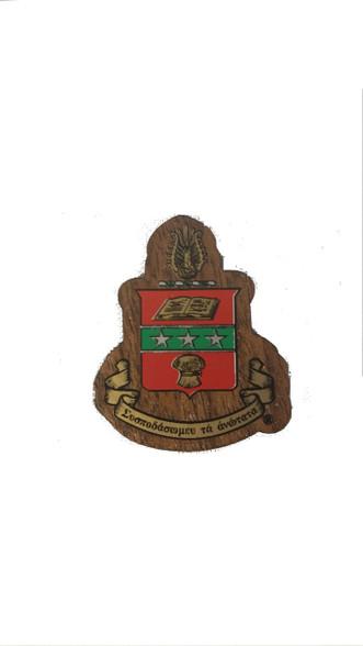 Alpha Chi Omega Sorority Mini Wood Crest