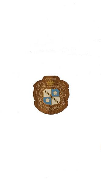 Zeta Tau Alpha ZTA Sorority Mini Wood Crest