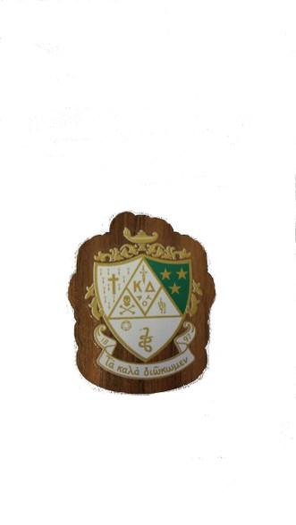 Kappa Delta Sorority Mini Wood Crest