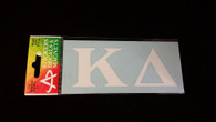 Kappa Delta Sorority White Car Letters