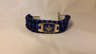 Mason Masonic Survival Paracord Bracelet- Blue/Black