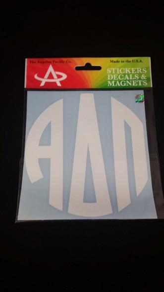 alpha delta pi adpi sorority monogram car decal