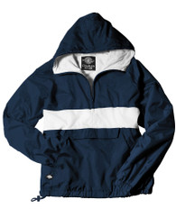 Sorority Anorak- Navy/White