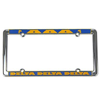 Delta Delta Delta Sorority License Plate Frame