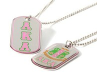Alpha Kappa Alpha AKA Sorority Reversible Dog Tag