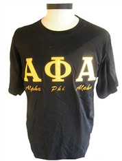 Alpha Phi Alpha Fraternity Stitched Letter Shirt with English Spelling