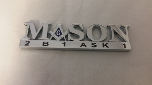 Mason Masonic 2B1 Ask1 Car Emblem