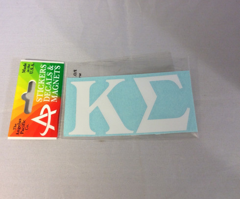 Kappa Sigma Fraternity White Car Letters