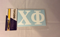 Chi Phi Fraternity White Car Letters