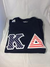 Kappa Delta Sorority American Flag Long Sleeve Shirt