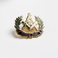 Prince Hall Mason Masonic Lapel Pin with Wreath