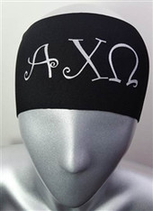 Alpha Chi Omega Sorority Greek Letter Head Band