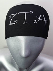 Zeta Tau Alpha ZTA Sorority Greek Letter Head Band