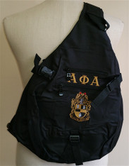 Alpha Phi Alpha Fraternity Sling Shoulder Bag Backpack with Greek Letters and Fraternity Crest
