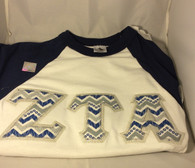 Shirt Inspiration- Sorority Baseball Shirt- Blue/White