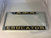 "Alpha Phi Alpha Fraternity ""Educator"" License Plate Frame- Black/Gold"