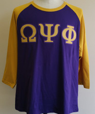 Omega Psi Phi Fraternity Baseball Shirt