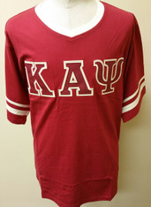 Kappa Alpha Psi Fraternity V-Neck with Striped Sleeves