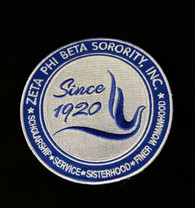 Zeta Phi Beta Sorority New Crest Iron-On Emblem/Patch- 10 Inches