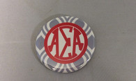 Alpha Sigma Alpha Sorority Gray and White Button-Small