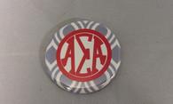 Alpha Sigma Alpha Sorority Gray and White Button-Small