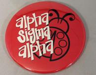 Alpha Sigma Alpha Sorority- Symbol Button-Large