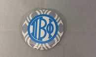 Pi Beta Phi Sorority Gray and White Button- Small
