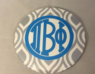 Pi Beta Phi Sorority Gray and White Button-Large