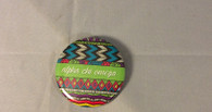 Alpha Chi Omega Sorority Tribal Print Button- Small