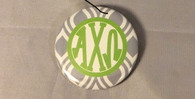 Alpha Chi Omega Sorority Gray and White Button-Small