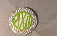 Alpha Chi Omega Sorority Gray and White Button-Large