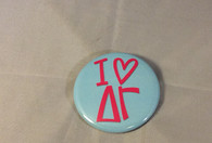 Delta Gamma Sorority- I Heart Button- Small