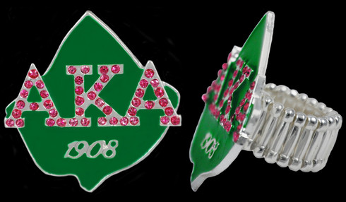 "Alpha Kappa Alpha AKA Sorority ""Stretch"" Ring"