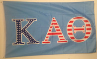 Kappa Alpha Theta Sorority USA Pattern Letter Flag