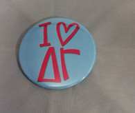 "Delta Gamma ""I Heart"" Button- Large"