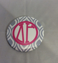 Delta Gamma Sorority Gray and White Button-Large
