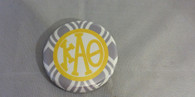 Kappa Alpha Theta Sorority Gray and White Button-Small