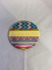 Kappa Alpha Theta Sorority Tribal Print Button-Large