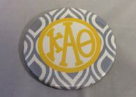 Kappa Alpha Theta Sorority Gray and White Button-Large