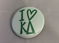 Kappa Delta Sorority- I Heart Button- Small