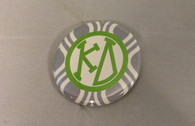 Kappa Delta Sorority Gray and White Button-Small
