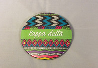 Kappa Delta Sorority Tribal Print Button-Large
