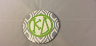 Kappa Delta Sorority Gray and White Button-Large
