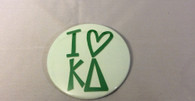 Kappa Delta Sorority- I Heart Button-Large