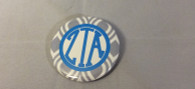 Zeta Tau Alpha ZTA Sorority Gray and White Button-Small