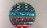 Delta Delta Delta Sorority Tribal Print Button- Large