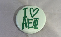 Alpha Epsilon Phi Sorority- I Heart Button- Small