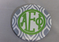 Alpha Epsilon Phi AEPHI Sorority Gray and White Button-Large