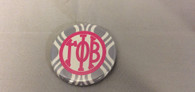Gamma Phi Beta Sorority Gray and White Button-Small